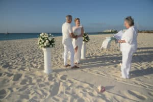 Trouwen strand Aruba