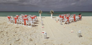 Trouwceremonie strand Aruba