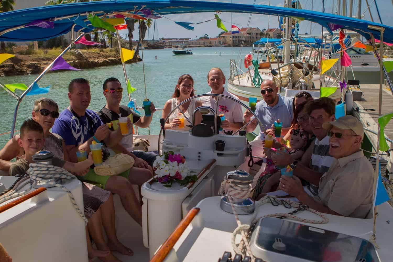 Zeiltrip na huwelijk op Bonaire