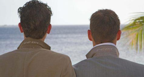 Homohuwelijk op Bonaire strand