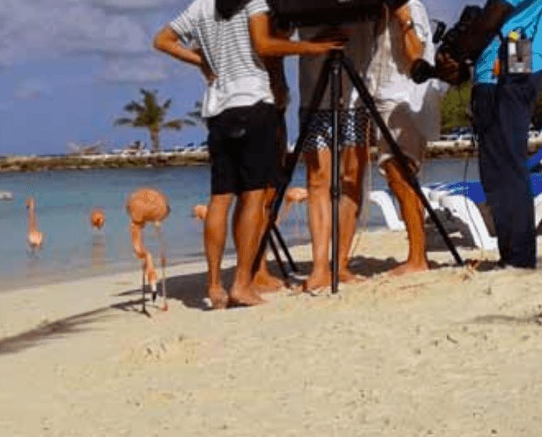 Vogue fotoshoot op Aruba