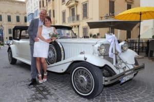 Trouwauto trouwen Malta