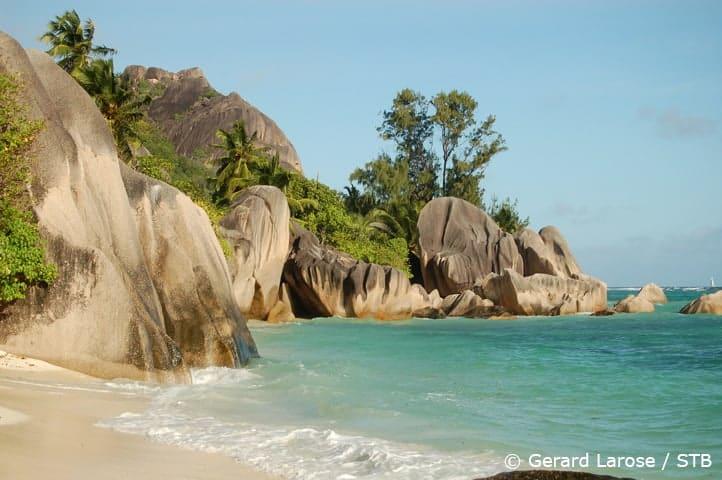 Seychellen la Digue Anse La Source dArgent 2