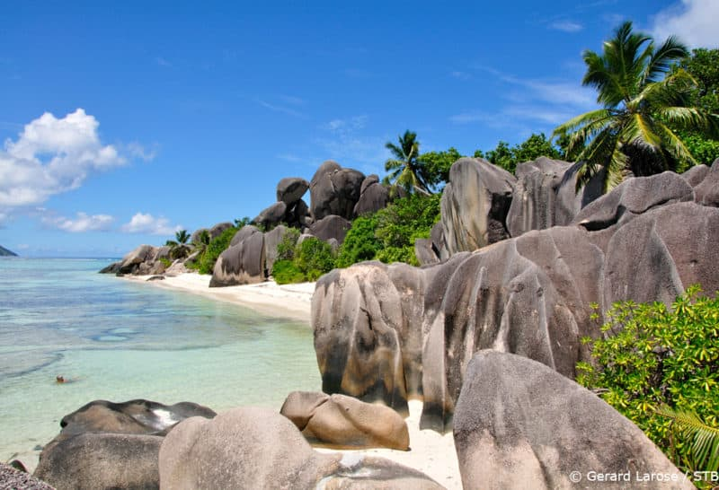 Seychellen la Digue Anse La Source dArgent