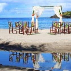 Ti Kaye St Lucia trouwlocatie op het strand