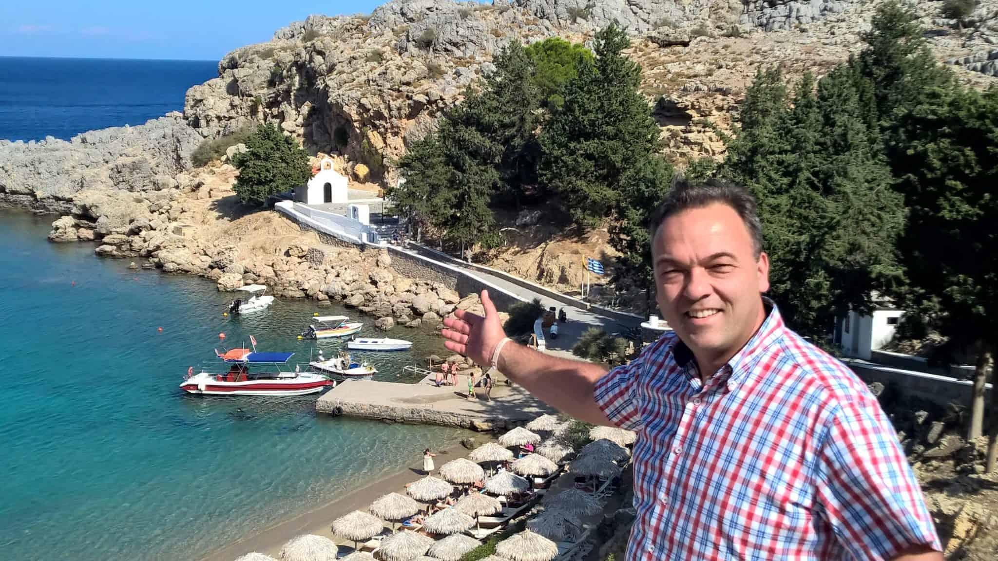 Tip trouwlocatie in Lindos op Rhodos Griekenland