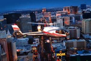 Trouwen Las Vegas NightFlight Helikopter