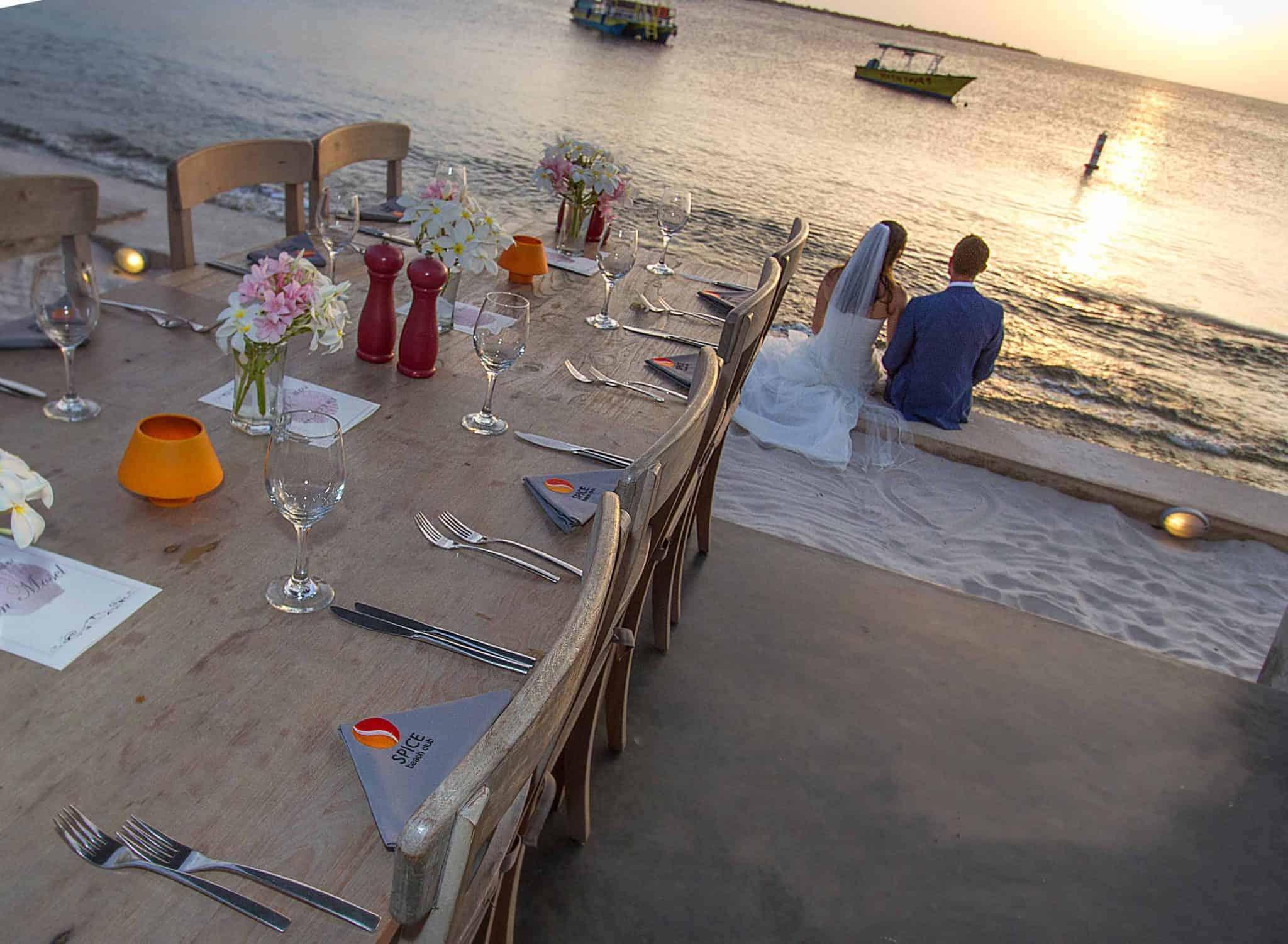 Bonaire trouwen op het strand
