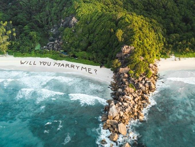 Huwelijksaanzoek Seychellen
